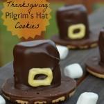 Easy Thanksgiving Pilgrim's Hat Cookie Treat