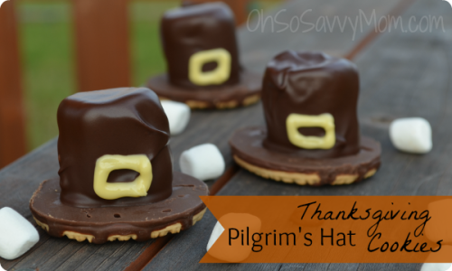 Thanksgiving Pilgrim's Hat Cookies