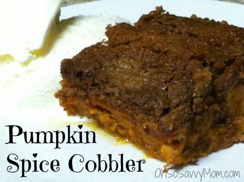 Pumpkin Spice Cobbler