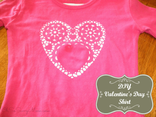 DIY Valentine's Day Shirt Craft