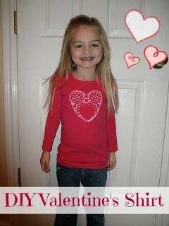 DIY Valentine's Day shirt