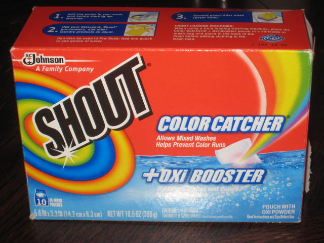 Shout Color Catcher with Oxi - Review and GivAway! - Oh So Savvy Mom