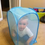 Wordless Wednesday (with LINKY): One of the many uses for a laundry hamper