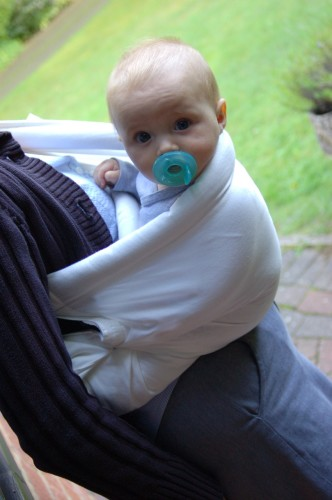 theBabaSling side carry position