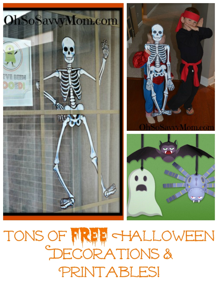 Free Halloween Decorations and Printables from HP