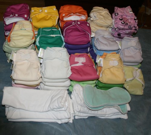 newborn cloth diapers from Earthy Crunchy Mama, cloth diaper rental