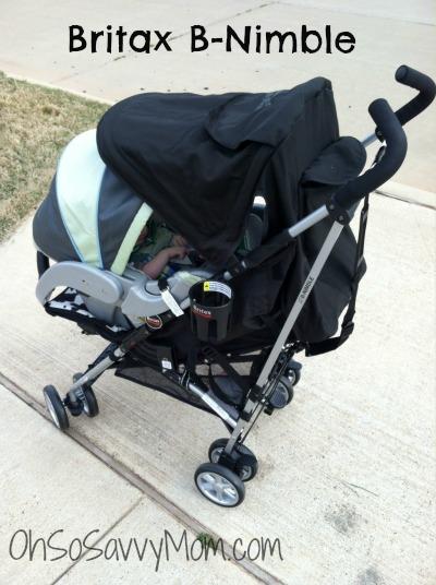 britax b nimble with infant car seat