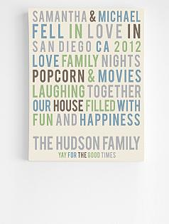 personalized family story wall art
