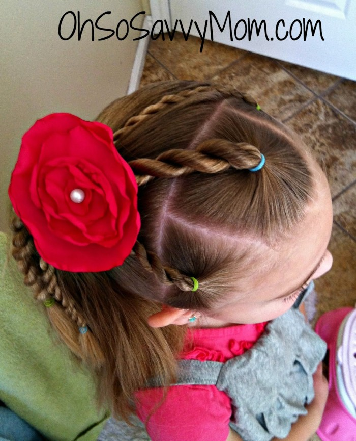 3 rope braids ponytail tutorial