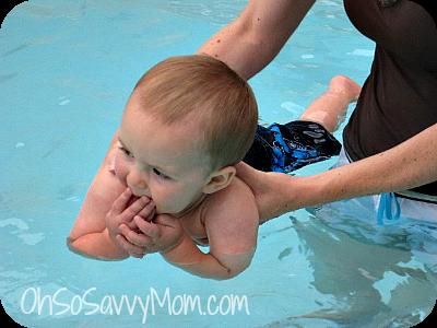Big Brother swimming