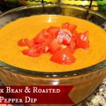 Black bean roasted red pepper dip