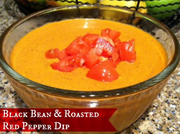 Black bean roasted red pepper dip