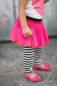 Black and Bright Tutu Skirt with Leggings
