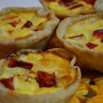 muffin tin quiche with crust, southwestern bacon quiche, quiche with cumin