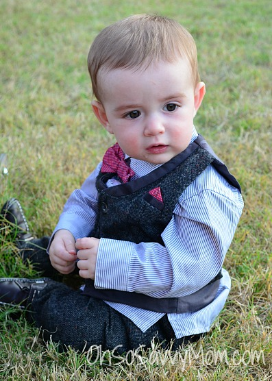 mamas and papas tweed suit for baby