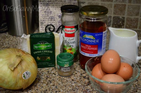 Muffin Tin quiche ingredients