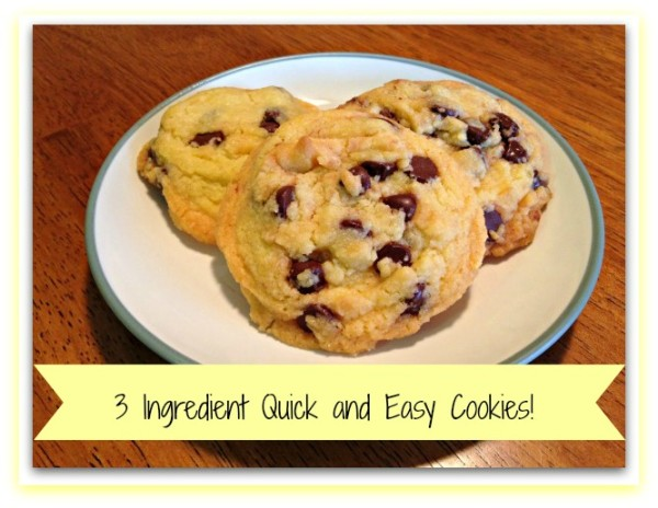 3 ingredient quick and easy cookies