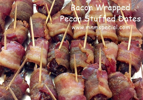 Bacon Wrapped Pecan Stuffed Dates