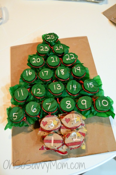 Christmas Advent Calendar Home Made Diy Craft
