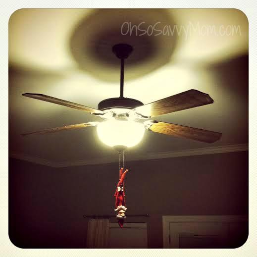 Elf on the shelf hanging around