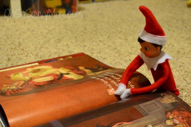 Elf on the shelf reading