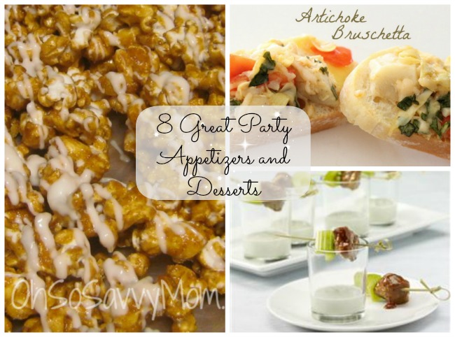appetizers and desserts for party