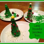 Candy Decorated Christmas Trees – Egg Allergy Friendly