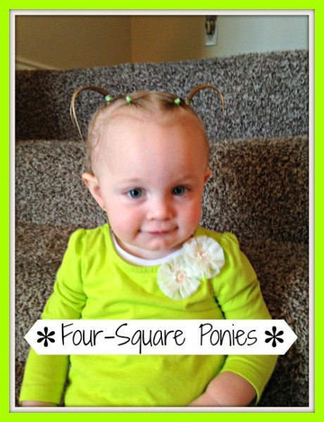 Incredible Four Square Ponies Baby Girl Hairstyles Tutorial Oh So Savvy Mom Short Hairstyles For Black Women Fulllsitofus