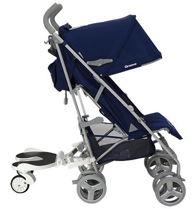 joovy bumprider on an umbrella stroller
