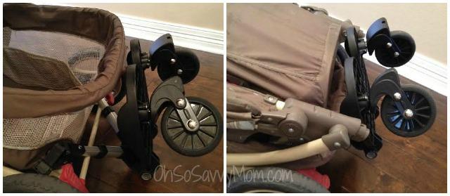 joovy bumprider on graco stroller folded