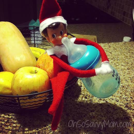 thirsty Elf on the Shelf