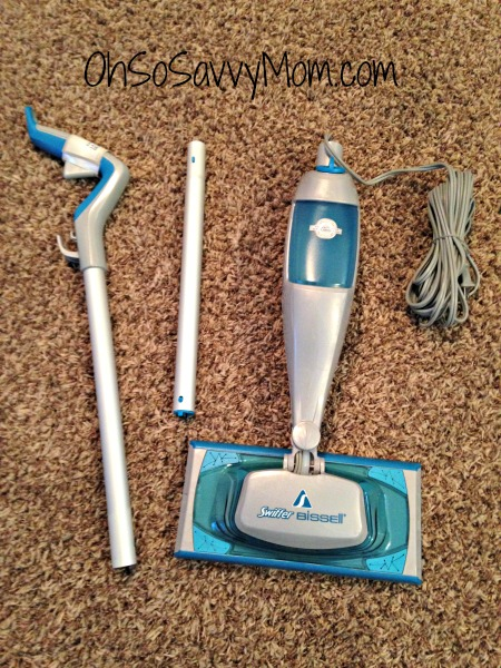 unassembled swiffer steamboost