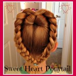 Sweet Heart Ponytail for Valentines Day – Hair Tutorial