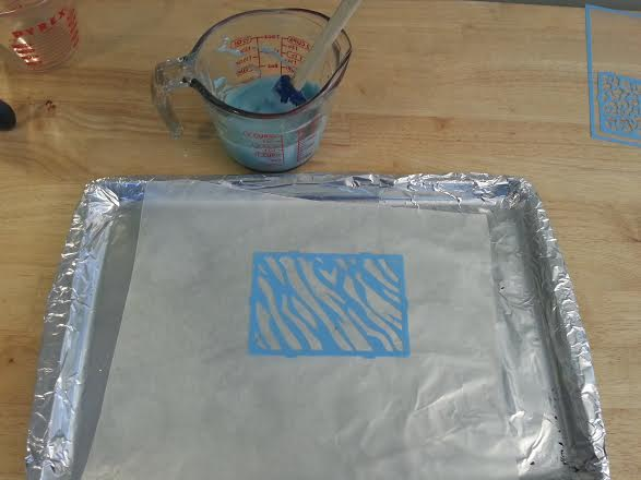 Textured edible safe paint for toddlers