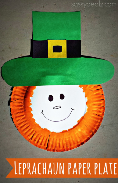 Paper plate Leprechaun - Easy St. Patrick's Day Craft