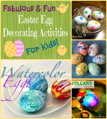 Fabulous Fun Easter Egg Decorating Activities for kids