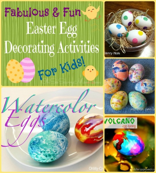 Fabulous Fun Easter Egg Decorating Ideas for kids