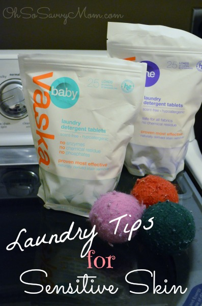 Laundry Tips for Sensitive Skin