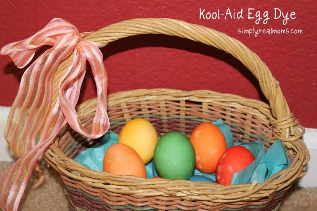 Easter Egg dyeing ideas for kids, Kool Aid Easter Eggs