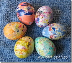 Easter Egg decorating ideas for kids, Melted Crayon Easter Eggs