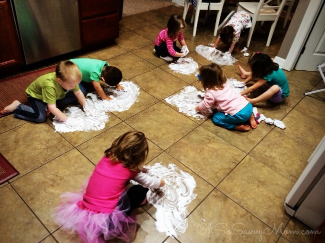 shaving cream painting - preschool activity
