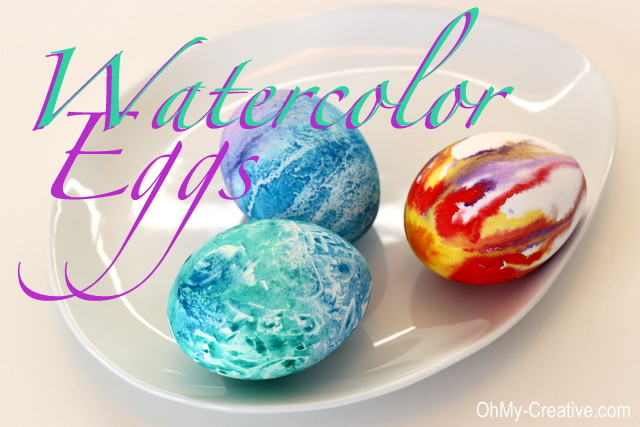 Easter Egg decorating ideas for kids, Watercolor Easter Eggs
