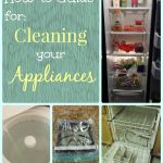 how to clean your appliances