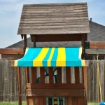 DIY swing set canopy