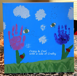 Handmade Mother's Day gifts - Blooming Handprint Canvas