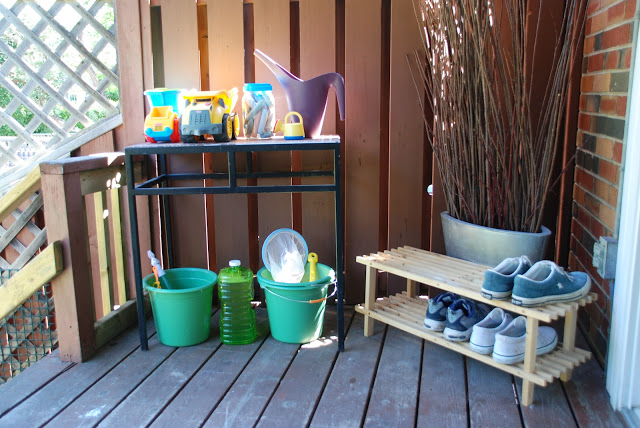 Toddler Toy Station - organizing your outdoor space