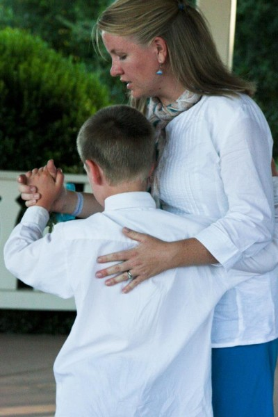 mom dancing with her son