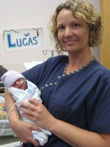Mom with baby lucas