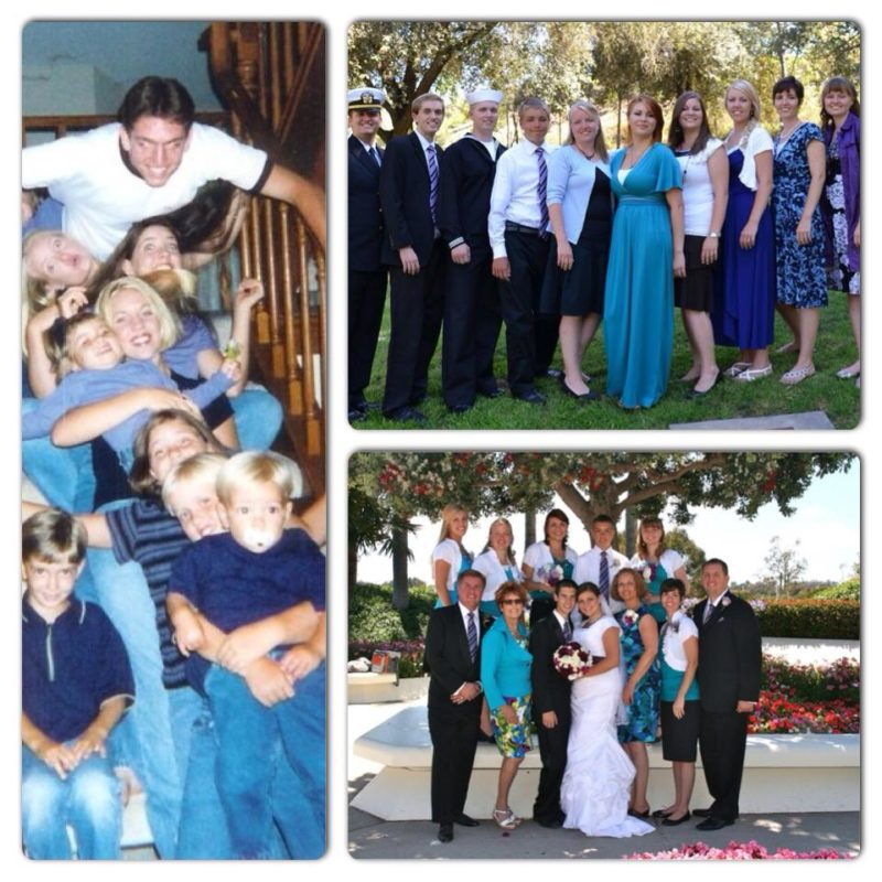 sibling collage