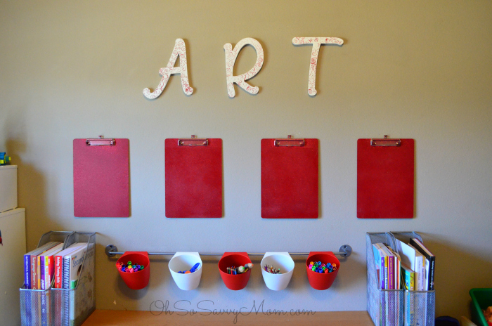 DIY Kids Art Wall